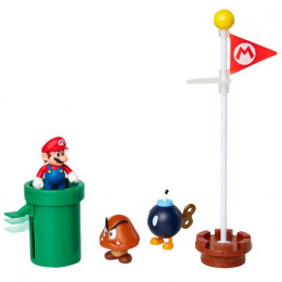 Super Mario – Zestaw figurek Acorn Plains: Mario, Goomba i Bob-omba – 85987