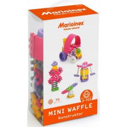 Marioinex - Klocki Waffle - Zestaw 70 elementów konstrukcyjnych dla dziewczynek - 90281