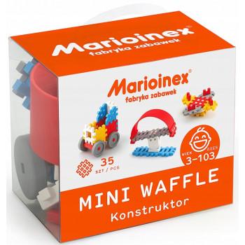 Marioinex - Klocki Waffle - Zestaw 35 elementów konstrukcyjnych dla chłopców - 90278