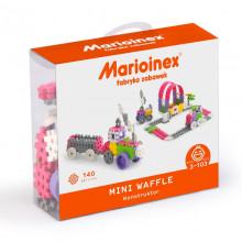 Marioinex - Klocki Waffle - Zestaw 140 elementów konstrukcyjnych dla dziewczynek - 90283