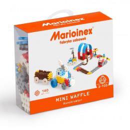 Marioinex - Klocki Waffle - Zestaw 140 elementów konstrukcyjnych dla chłopców - 90282