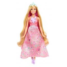 Barbie DWH42 Kolorowe fryzury Lalka Księżniczka blond
