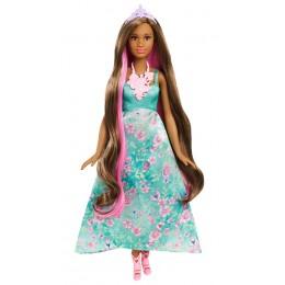 Barbie DWH43 Kolorowe fryzury Lalka Księżniczka ciemnowłosa