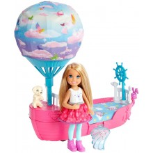 Barbie Dreamtopia DWP59 Magiczna łódka Chelsea