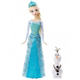 Frozen Kraina Lodu CMM87 Elsa i Olaf - lalka 30 cm i figurka 10 cm