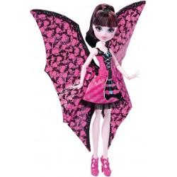 Monster High DNX65 Lalka Draculaura Wampiskrzydła 2w1