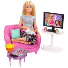 Barbie - Zestaw mebli do salonu - FXG36