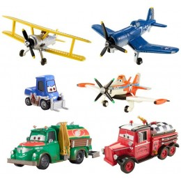 Mattel Samoloty Planes CCR33 Zestaw sześciu figurek - Powrót Dusty'ego