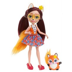 Enchantimals DVH89 Lalka Felicity Fox i lisek Flick