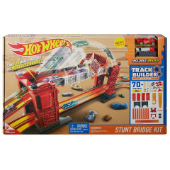 Hot Wheels DWW97 Track Builder - Zestaw KASKADERSKI MOST