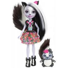 Enchantimals DYC75 Lalka Sage Skunk i skunksiczka Caper