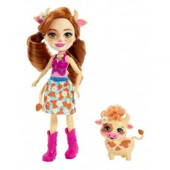 Enchantimals - Lalka Cailey Cow i krówka Curdle FXM77