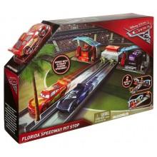 Mattel Cars Auta FBH01 Zestaw z autkiem i wyrzutnią  - Florida Speedway Pit Stop