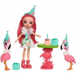 Enchantimals FCG79 Zestaw z lalką i zwierzątkami - Flamingowe figle