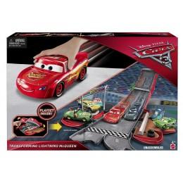 AUTA 3 CARS Rozkładany zestaw z akcesoriami TRANSFORMUJĄCY ZYGZAK MCQUEEN - czerwony FCW04