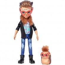 Enchantimals FJJ22 Lalka i zwierzątko - Hixby Hedgehog i jeżyk