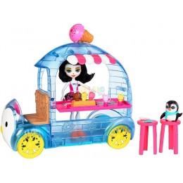 Enchantimals FKY58 Mobilna budka z lodami - Preena Penguin i pingwin Jayla