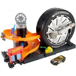 Hot Wheels FNB17 Zestaw - Odjazdowy warsztat opon
