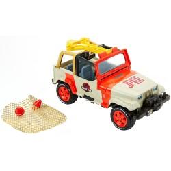 Jurassic World - Jeep Wrangler z siatką ratunkową i dinozaur - FNP46
