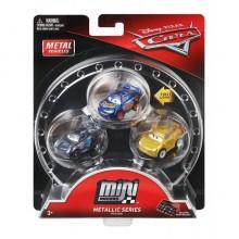 Mattel Cars Auta Zestaw trzech miniautek - Miniaturki Cars - Metaliczne FPC48