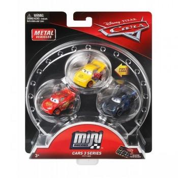 Mattel Cars AutaZestaw trzech miniautek - Miniaturki Cars FPT71