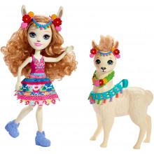 Enchantimals - Lluella Llama i Fleecy - Figurka z lamą FRH42