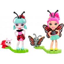 Enchantimals - Bug Buddies Figurki - Ladelia Ladybug i Baxi Butterfly FXM87