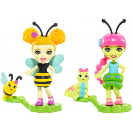 Enchantimals - Bug Buddies Figurki - Cay Caterpillar i Beetrice Bee FXM88