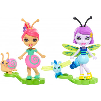Enchantimals - Bug Buddies Figurki - Saxon Snail i Dara Dragonfly FXM89