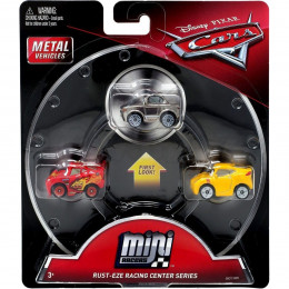 Cars Mini Racers - Zestaw trzech mini autek - Zygzak, Cruz i Sterling GBC72