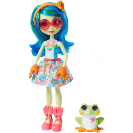 Enchantimals - Tamika Tree Frog i żabka Burst - Lalka i zwierzątko GFN43