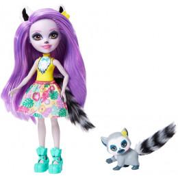 Enchantimals - Larissa Lemur i Ringlet - Lalka i zwierzątko GFN44