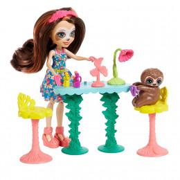 Enchantimals - Salon kosmetyczny - Sela Sloth i leniwiec Treebody - GFN54