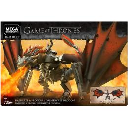 Mega Construx - Zestaw klocków - Gra o Tron: Daenerys ze smokiem GKG97