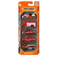 Matchbox – Pięciopak samochodzików – MBX Fire Rescue – HCJ04