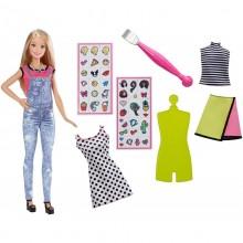 Barbie D.I.Y. Zrób to sama Modne naklejki + lalka blondynka DYN93