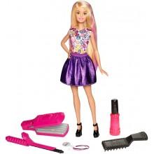 Barbie D.I.Y. Zrób to sama Fale i loki + lalka blondynka DWK48
