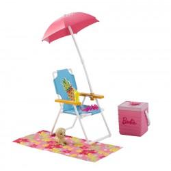 Barbie Akcesoria wypoczynkowe Leżak DVX49