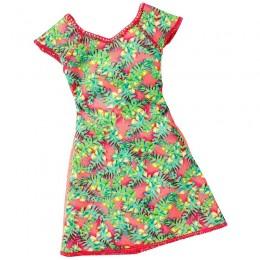 Barbie Modne sukienki kolor zielony DWG07