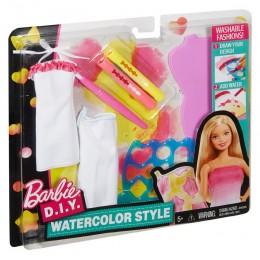 Barbie D.I.Y. Zrób to sama Akwarelowe wzory kolor żółty DWK51