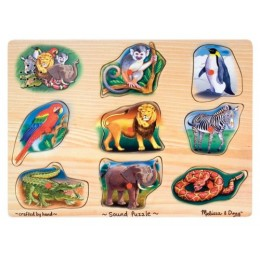 Melissa & Doug 10269 Klasyczne Puzzle Dźwiękowe Zoo