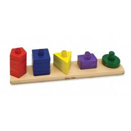 Melissa & Doug Drewniany Sorter Kształtów i Kolorów 10379