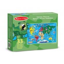 Melissa & Doug Puzzle podłogowe Mapa Świata - 33 elementy 10446