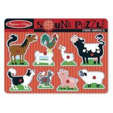 Melissa & Doug 10726 Puzzle Układanka z Dźwiękiem Farma