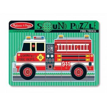 Melissa & Doug Układanka Puzzle Dźwiękowe Strażak 10731