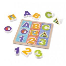 Melissa & Doug - Ogromne puzzle drewniane ABC - 11899