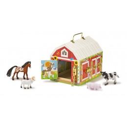 Melissa & Doug 12564 Walizka stodoła z zamkami i zatrzaskami