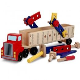 Melissa & Doug - Ciężarówka z narzędziami do majsterkowania - 12758