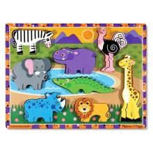 Melissa & Doug Ukladanka Puzzle Zwierzątka Safari 13722