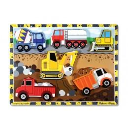 Melissa & Doug 13726 Układanka Puzzle Pojazdy Budowlane